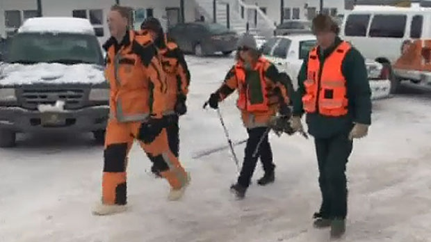 A search crew was called in to search for a missing Kinkora, P.E.I. man after a trucker spotted an overturned car near the community.