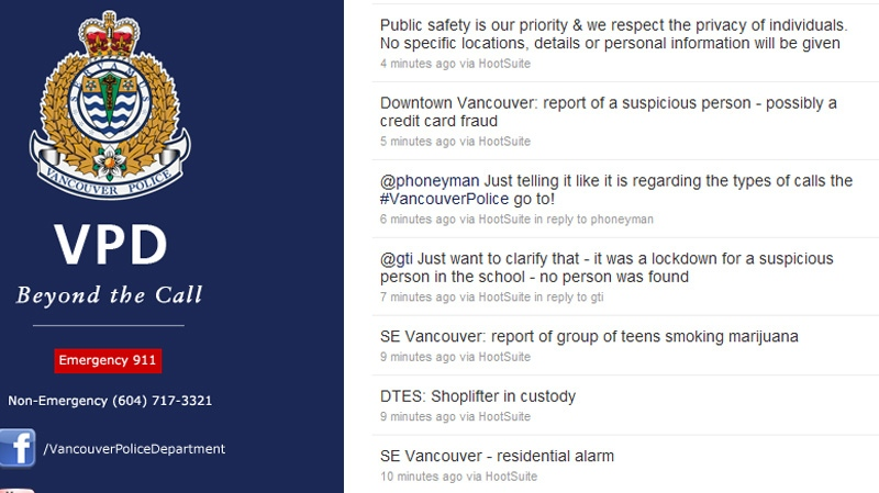 Vancouver Police Put All Calls On Twitter Ctv News