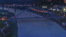 Walterdale Bridge Night