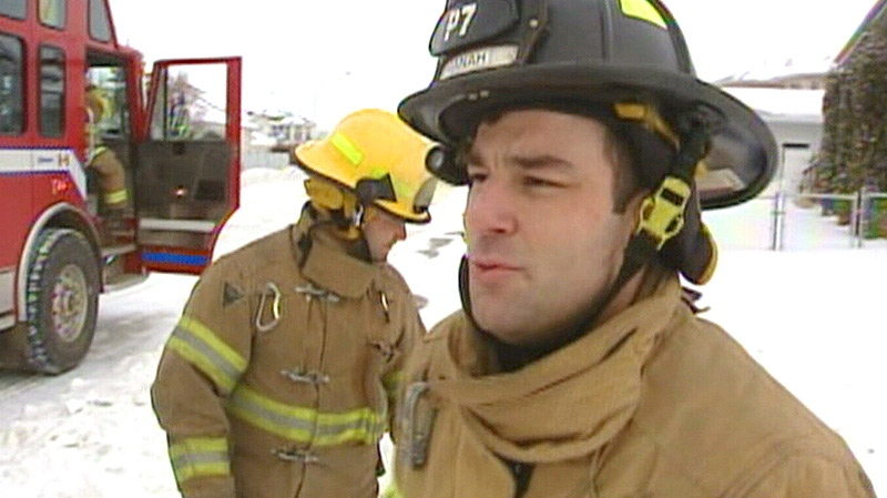 Firefigher Najeeb Manah appears in a CTV News story in the winter of 2008, regarding extreme weather conditions, and how emergency services deal with them.