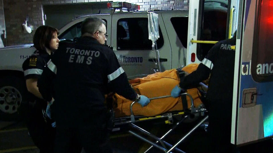 A 20-year-old man is rushed to hospital with shooting injuries after being found in a parking lot on Emmett Avenue on Thursday, Jan. 3, 2012.