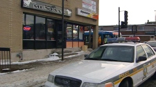Montreal police conduct a series of raids on Italian cafes, Thursday, Dec. 9, 2010.