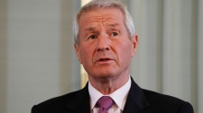 Chairman of the Norwegian Nobel Committee Thorbjorn Jagland speaks at a press conference at the Nobel Institute Thursday Dec. 9, 2010 in Oslo, Norway. (Hakon Mosvold Larsen / SCANPIX NORWAY)
