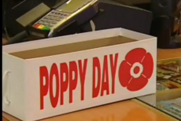 Poppy box stolen in Winnipeg