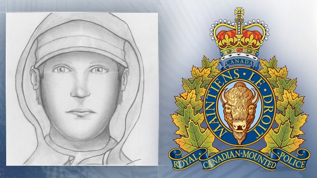 Red Deer RCMP released this composite sketch of the male suspected to have been involved in a sexual assault on New Year's Day in downtown Red Deer.