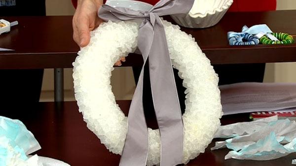 A rock sugar wreath is shown on Canada AM, Friday, Dec. 10, 2010.