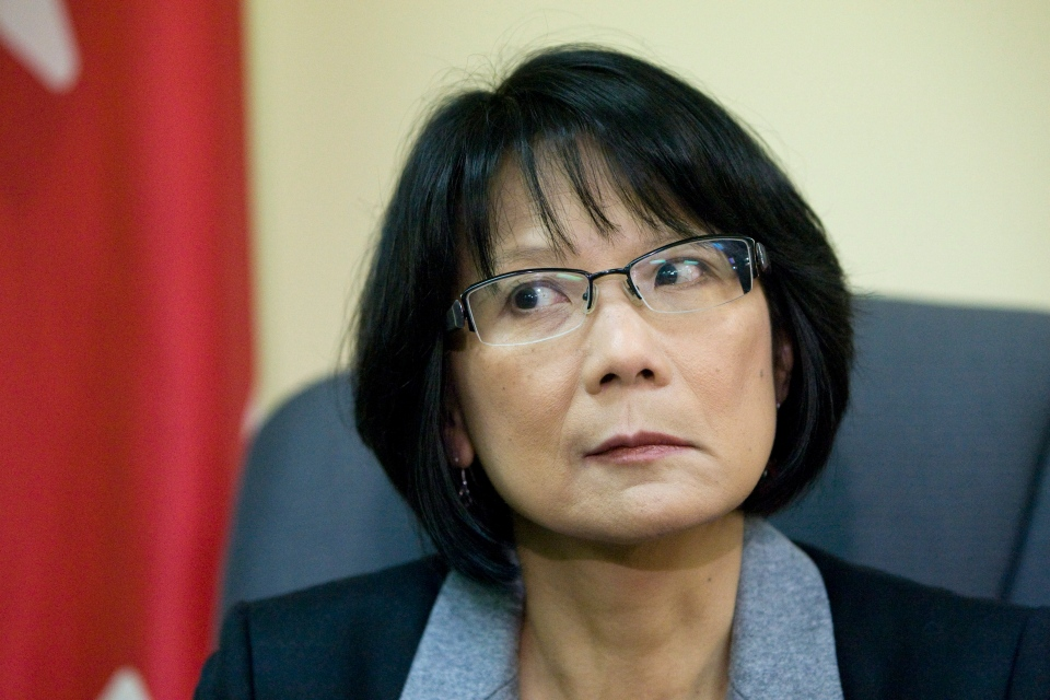 Trinity-Spadina MP Olivia Chow talks about Ramsay Hunt syndrome type 2 that afflicts the left side of her face, at her office in Toronto on Friday, Jan. 4, 2013. (Matthew Sherwood / THE CANADIAN PRESS)