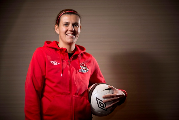 Christine Sinclair starts suspension