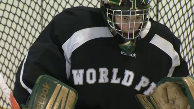 Athlete of the Week: Calgary Sabres goaltender Nolan Hildebrand