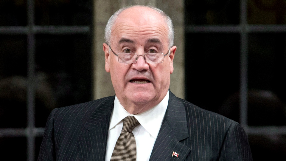 Minister of International Cooperation Julian Fantino responds to a question during question period in the House of Commons, Wednesday, Dec. 5, 2012 in Ottawa. (Adrian Wyld / THE CANADIAN PRESS)