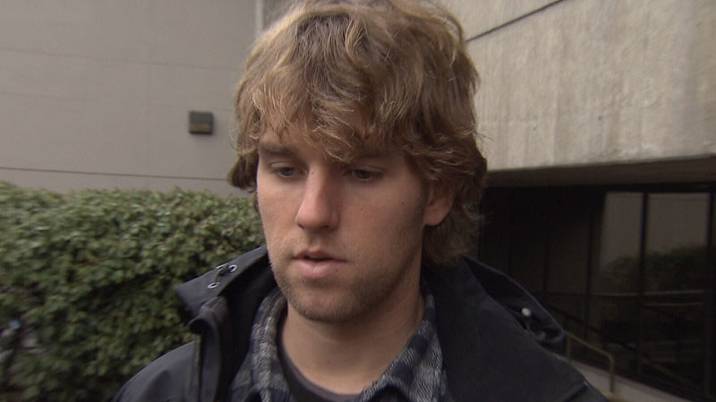 Stanley Cup rioter Richard MacMillan speaks to reporters after a court appearance. Jan. 4, 2013. (CTV)
