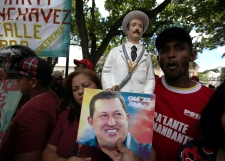 Supporters of Venezuela's President Hugo Chavez