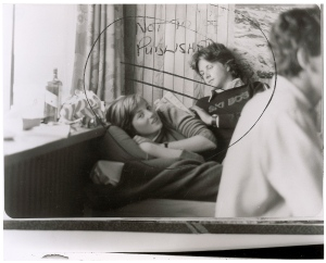 """This image provided by RR Auction shows a photograph marked """"not to be published"""" of a teenage Diana Spencer before she became Princess of Wales, with a young friend seated beside her. (AP /Handout)"""