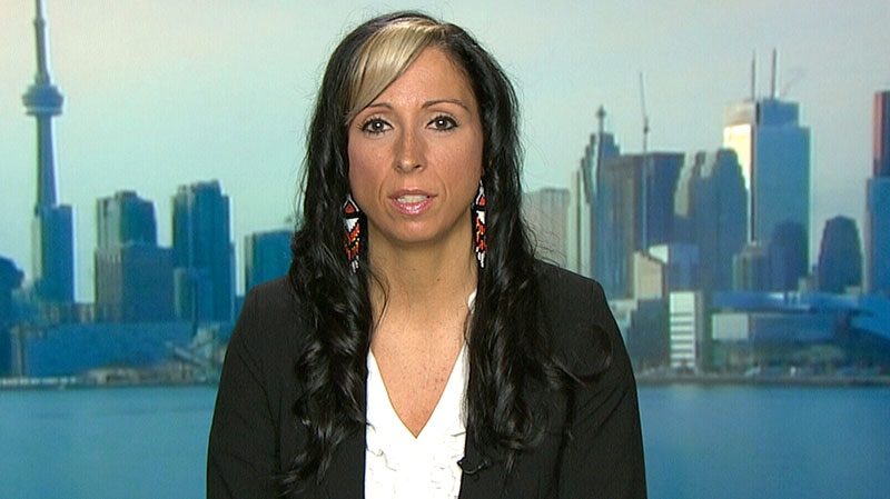 Idle No More spokesperson Pam Palmater appears on CTV's Canada AM in Toronto, Monday, Jan. 7, 2013.
