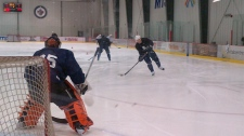 Winnipeg Jets practice