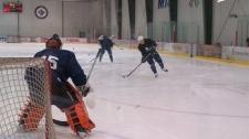 Winnipeg Jets practice