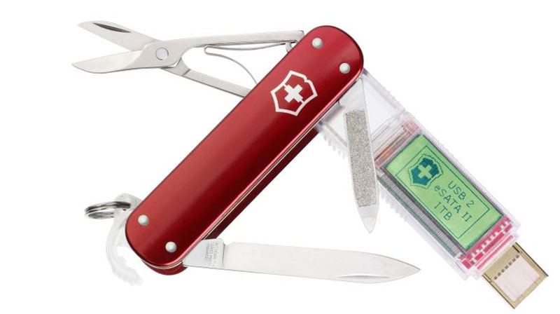 The Victorinox Swiss Army knife has a solid state drive that has up to 1 terabyte of storage. (Victorinox)