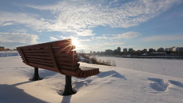 Saskatoon on a winter's day