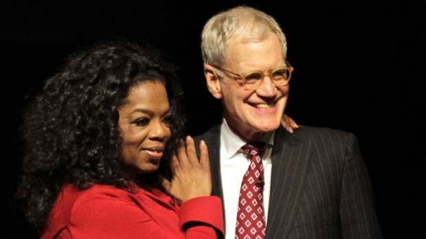 David Letterman talks to Oprah