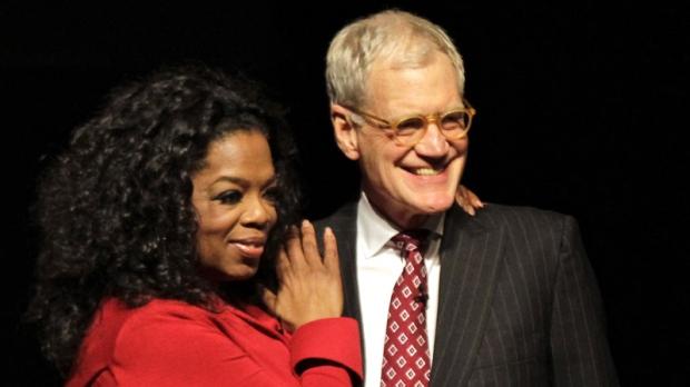 David Letterman talks to Oprah