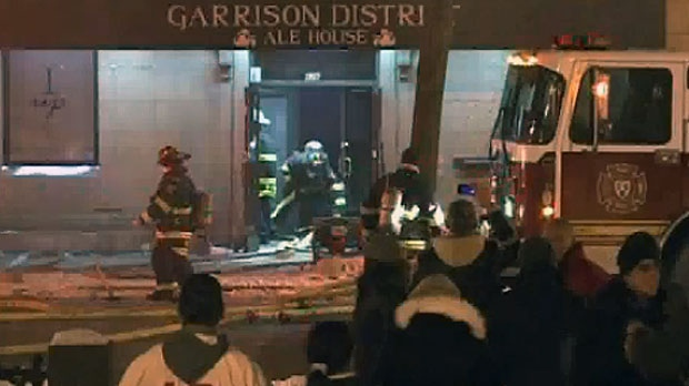 A fire damaged the Garrison Ale House in downtown Fredericton Friday.