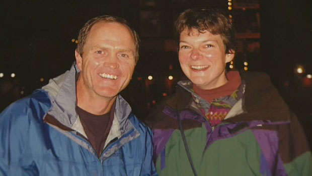 Bill Hobbins and his wife Sue Richards, in an undated photo supplied to CTV News. The couple used to love to bike, ski and hike together before Richards was diagnosed with early onset Alzheimer's.