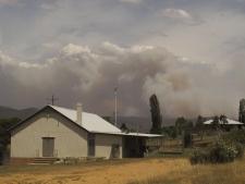 Smoke over Numeralla, New South Wales, Australia.