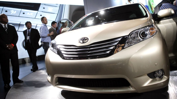 The 2011 Toyota Sienna debuts at the Los Angeles Auto Show in Los Angeles, Wednesday, Dec. 2, 2009. (AP / Jae C. Hong)