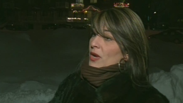 Kiki Couloukis is furious about the lack of snow removal on Gibbon St. She also worries that in an emergency, ambulances would not be able to navigate the snow-filled street. (Jan. 7, 2012)
