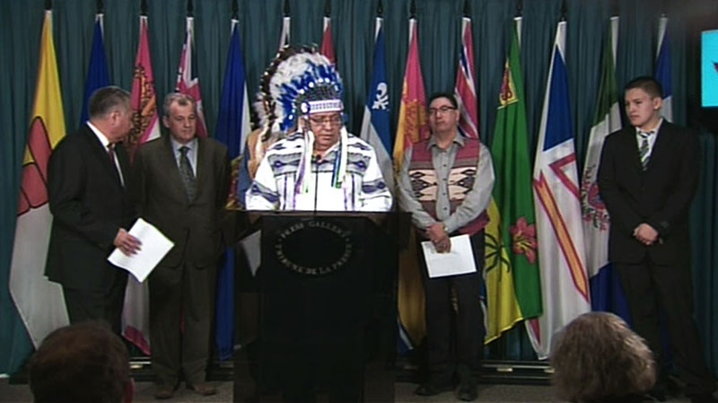 Chief Courtoreille announces 'significant action' being taken by First Nations against the government, Tuesday, Jan. 8, 2013.