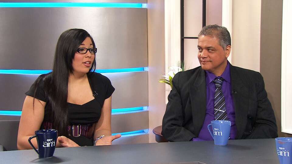 Alison's father Gary Atkins and sister Jaclyn discuss her online legacy on CTV's Canada AM on Tuesday, Jan. 8, 2012.