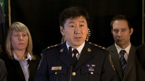 Vancouver Police Chief Const. Jim Chu announces the arrest of Ibata Norie Hexamer in connection to the sexual assaults of four girls. Dec. 13, 2010. (CTV)