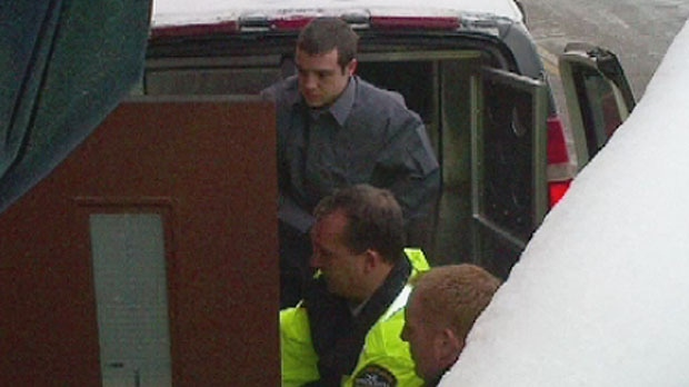 Kyle David Fredericks arrives at Kentville provincial court on Tuesday, January 8.