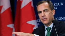 Bank of Canada Governor Mark Carney speaks to the media during a press conference after speaking at the Economic Club of Canada lunch in Toronto on Monday, December 13, 2010. (Nathan Denette / THE CANADIAN PRESS)