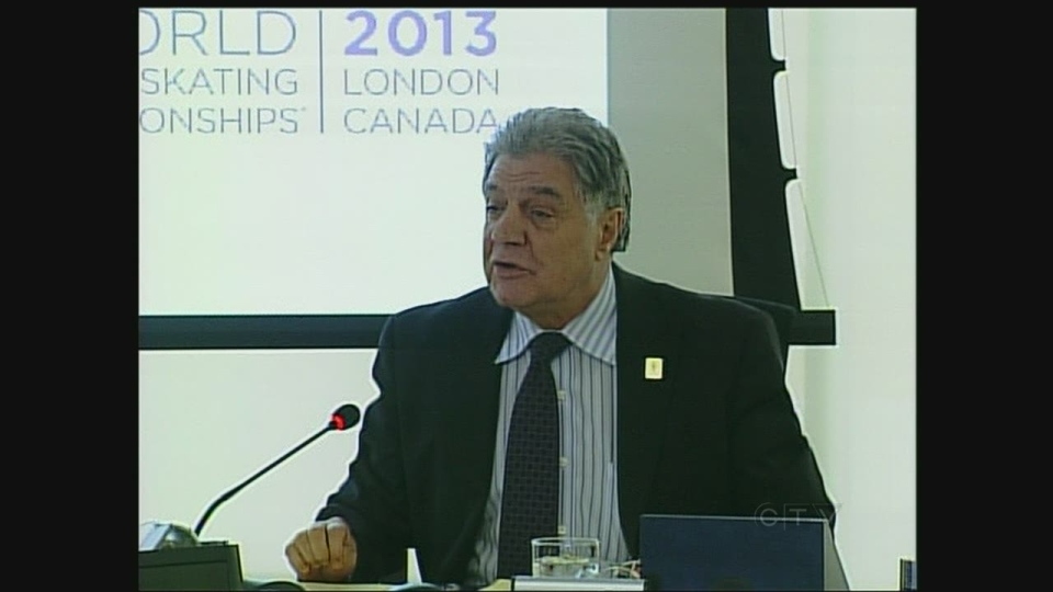 Mayor Joe Fontana speaks at a committee meeting in London, Ont. on Tuesday, Jan. 8, 2013.