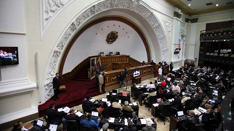 Members of Venezuela's National Assembly attend a session in Caracas, Venezuela, Tuesday, Jan. 8, 2013. (AP / Fernando Llano)