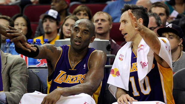 Steve Nash Kobe Bryant Los Angeles Lakers NBA