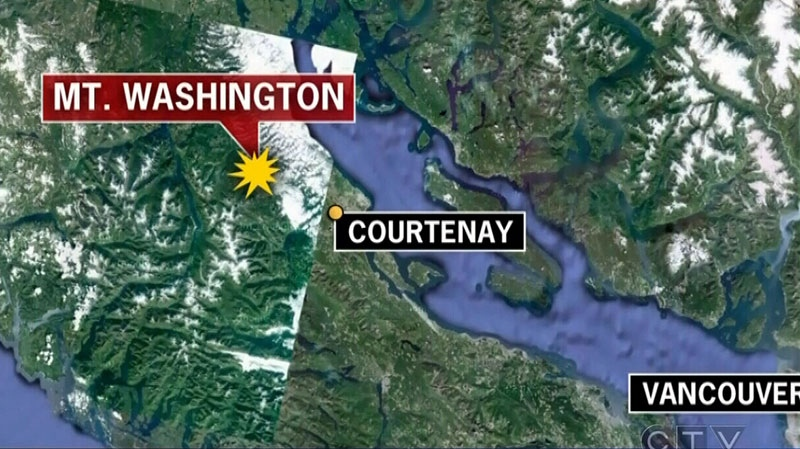 An 18-year-old skier who was injured in a small avalanche was rescued from a provincial park near Mount Washington, B.C., on Wednesday, Jan. 9, 2012.