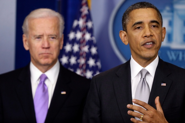 Biden, right, and Obama on Dec. 19, 2012.