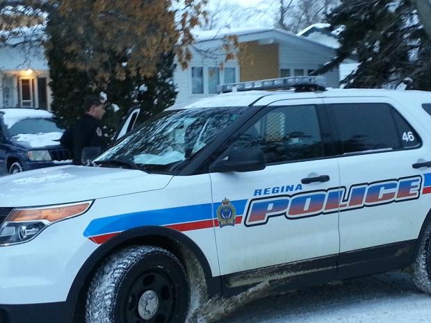 standoff in south Regina