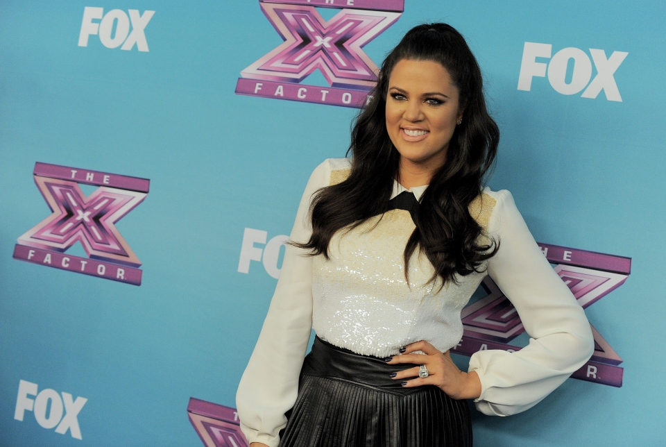 Khloe Kardashian attends the 'The X Factor' season finale at CBS Television City in Los Angeles on Thursday, Dec. 20, 2012. (AP / Jordan Strauss/Invision)