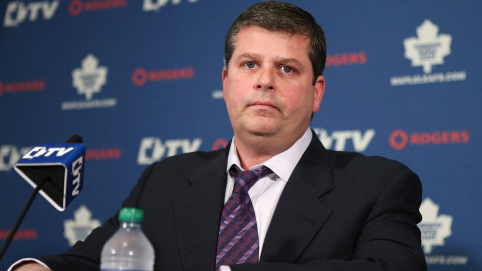 Newly-appointed Toronto Maple Leafs GM Dave Nonis attends a news conference in Toronto on Wednesday Jan. 9, 2013. (Chris Young / THE CANADIAN PRESS)