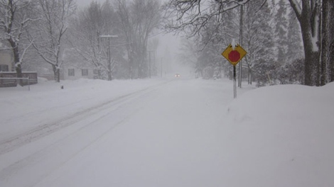 Snow road street country visibility cold snow squall blizzard