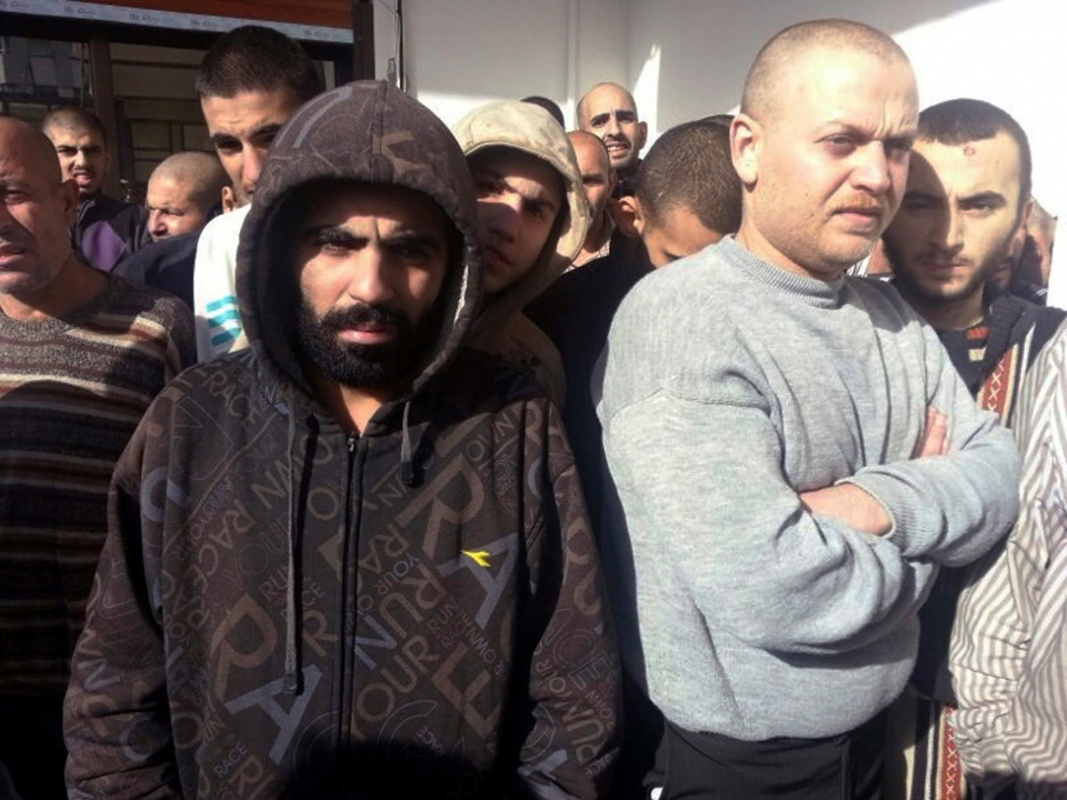 Freed Syrian prisoners released by the Syrian government are seen in Damascus, Syria, Wednesday, Jan. 9, 2013. (IHH)