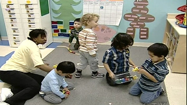Children play at the Rising Sun Childcare Centre in Verdun (Dec. 14, 2010)