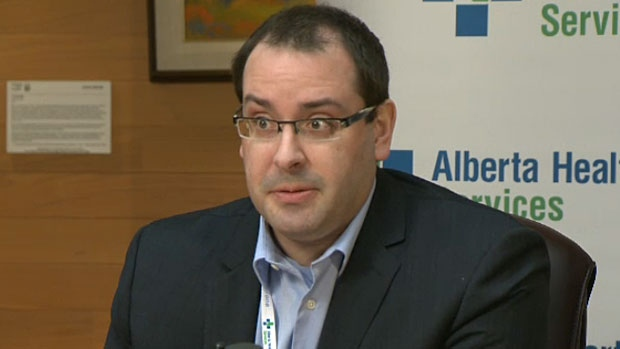 Dr. Chris Sikora, medical officer of health, says a spike in flu cases this season has put a strain on Alberta hospitals.