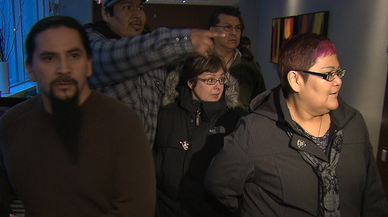 Theresa Spence attended a closed door meeting with other First Nations leaders in Ottawa on Wednesday, Jan. 9, 2013.