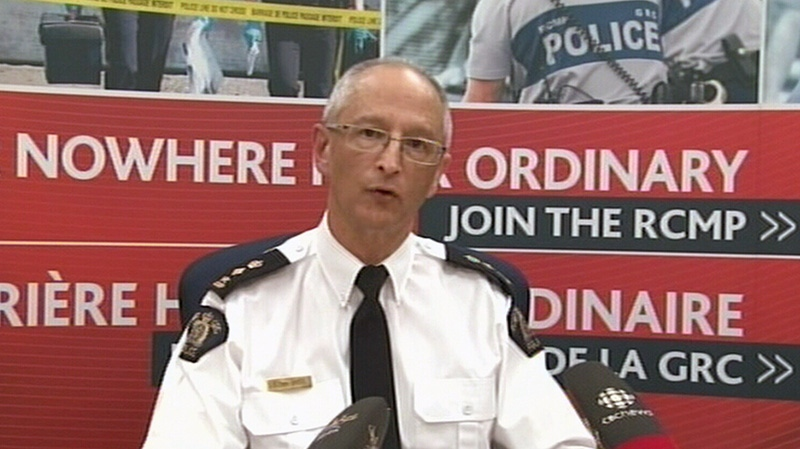 RCMP Supt. Hilton Smee explains that a rescue helicopter pilot had to be saved by the men he was rescuing near Arviat, Nunavut, at a media conference in Iqaluit on Wednesday, Jan. 9, 2013.