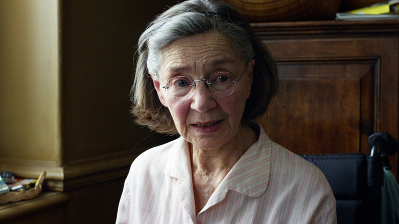 Emmanuelle Riva in a scene from Mongrel Media's 'Amour'