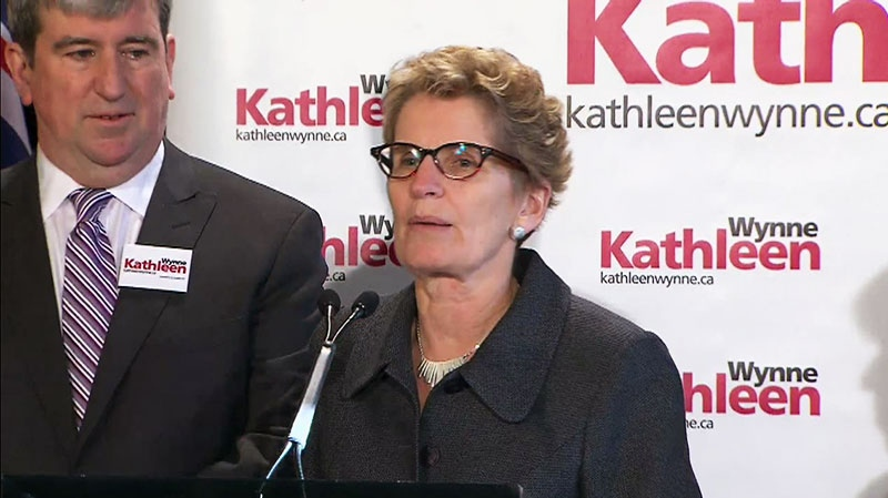 Kathleen Wynne welcomes Glen Murray to her Ont. Liberal leadership campaign, Thursday, Jan. 10, 2013.